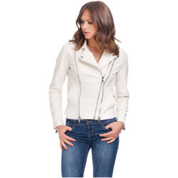 Clothing Women Leather jackets / Imitation leather Laura Moretti Jacket TURNER Beige F Beige
