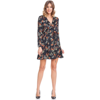 Clothing Women Short Dresses Laura Moretti Dress STELIA Black F Black