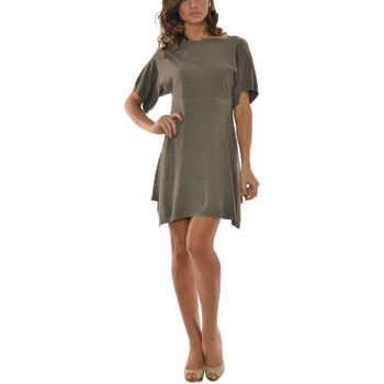 Clothing Women Short Dresses Laura Moretti Dress STACY Taupe Woman Autumn/Winter Collection Taupe