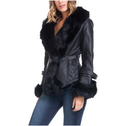 Clothing Women Jackets Laura Moretti Jacket SPARKS Black Woman Autumn/Winter Collection Black