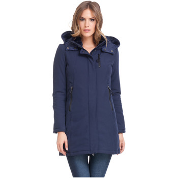 Clothing Women coats Laura Moretti Coat SABYN Blue Woman Autumn/Winter Collection Blue
