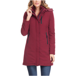 Clothing Women coats Laura Moretti Coat SABYN Burgundy Woman Autumn/Winter Collection Burgundy