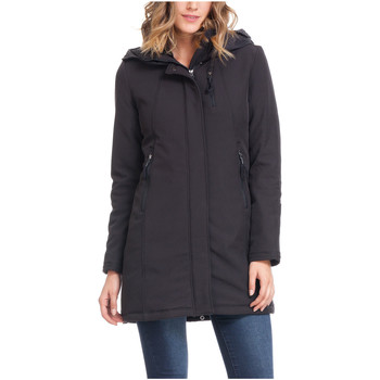 Clothing Women coats Laura Moretti Coat SABYN Black Woman Autumn/Winter Collection Black