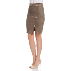 Clothing Women Skirts Laura Moretti Skirt BEVERLY Olive green Woman Autumn/Winter Collection Olive green