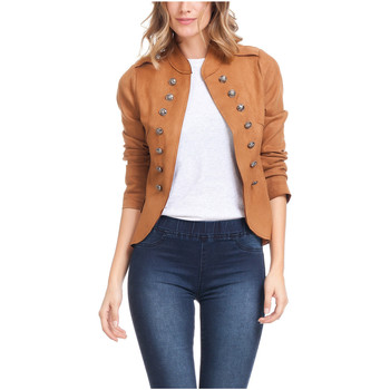 Clothing Women Jackets Laura Moretti Jacket BAUVAIS Camel Woman Autumn/Winter Collection Camel