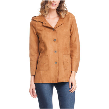 Clothing Women Jackets Laura Moretti Jacket ACCRA Camel Woman Autumn/Winter Collection Camel