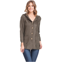 Clothing Women Jackets Laura Moretti Jacket ACCRA Olive green Woman Autumn/Winter Collection Olive green