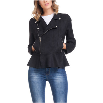 Clothing Women Jackets Laura Moretti Jacket LAGOS Black Woman Autumn/Winter Collection Black
