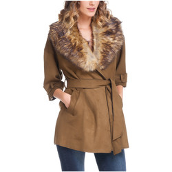Clothing Women Jackets Laura Moretti Jacket JOELLE Olive green Woman Autumn/Winter Collection Olive green