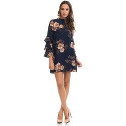 Clothing Women Short Dresses Tantra Dress MANON Navy blue / Beige Woman Autumn/Winter Collection Navy blue