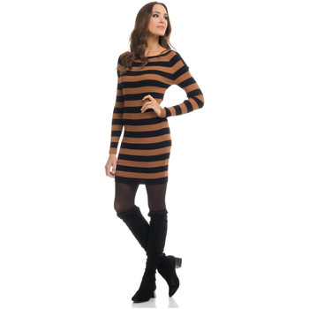 Clothing Women Dresses Tantra Dress MARIE Brown / Black Woman Autumn/Winter Collection Brown