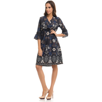 Clothing Women Dresses Tantra Dress LAURE Navy blue / White Woman Autumn/Winter Collection Navy blue