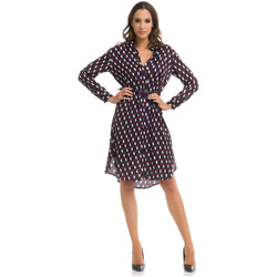 Clothing Women Short Dresses Tantra Dress MARIA Burgundy / Navy blue Woman Autumn/Winter Collection Burgundy