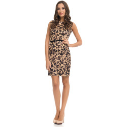 Clothing Women Dresses Tantra Dress PAOLA Brown Woman Autumn/Winter Collection Brown