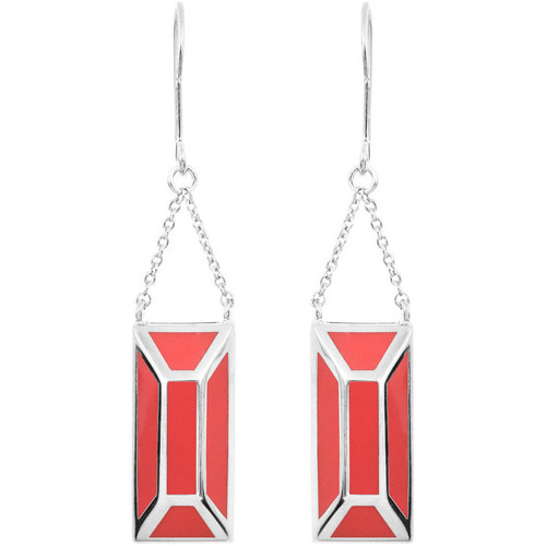 Watches Women Earrings Skalli Earrings NOLWEN Silver / Red Woman Spring/Summer Collection Silver