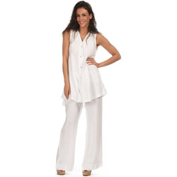 Clothing Women Tunics 100 % Lin Tunic HELENE White White