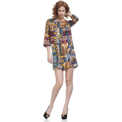 Clothing Women Short Dresses Tantra Dress KARLA Mustard Woman Autumn/Winter Collection Mustard