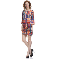 Clothing Women Short Dresses Tantra Dress KARLA Orange Woman Autumn/Winter Collection Orange