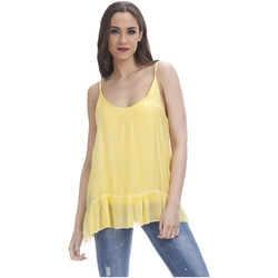Clothing Women Tops / Blouses Tantra Top EMMA Yellow F Yellow