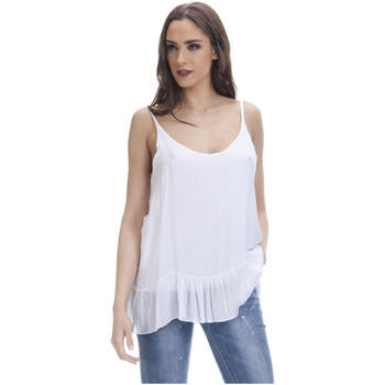 Clothing Women Tops / Blouses Tantra Solid top Sleeveless EMMA White Woman Autumn/Winter Collection White