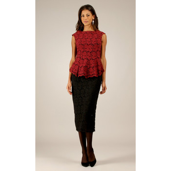 Clothing Women Tops / Blouses Miss June Top HELENE Burgundy F Burgundy