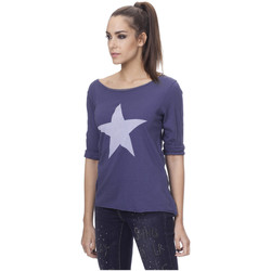 Clothing Women Tops / Blouses Tantra Cotton round neck top LINA Navy blue Woman Autumn/Winter Collec Navy blue