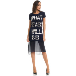 Clothing Women Short Dresses Tantra Dress SOPHIE Navy blue / White Woman Autumn/Winter Collection Navy blue