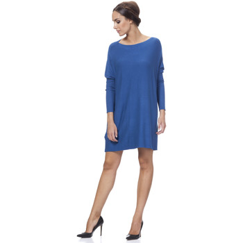 Clothing Women Dresses Tantra Round Collar Knit Sweater Dress MONA Blue Woman Autumn/Winter C Blue