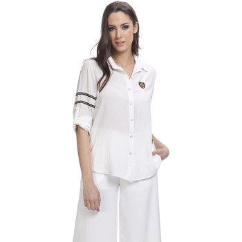 Clothing Women Shirts Tantra Solid shirt Long sleeves STELLA White Woman Autumn/Winter Colle White