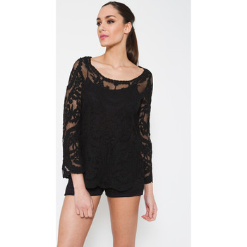 Clothing Women Shirts Tantra Embroidered effect blouse MAGDALENA Black Woman Autumn/Winter C Black