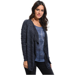 Clothing Women Jackets / Cardigans Cbk Cardigan JOHANNA Navy blue Woman Spring/Summer Collection Navy blue