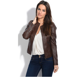 Clothing Women Jackets Jacqs Jacket AIZA Camel Woman Autumn/Winter Collection Choco brown
