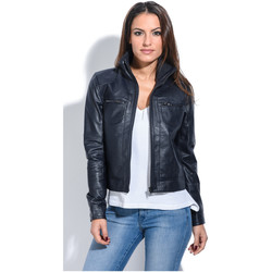 Clothing Women Jackets Jacqs Jacket APRIL Navy blue Woman Autumn/Winter Collection Navy blue