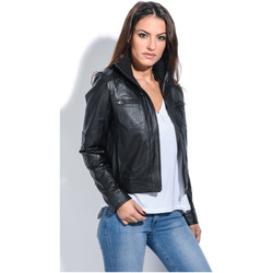 Clothing Women Jackets Jacqs Jacket APRIL Black Black