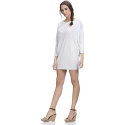 Clothing Women Short Dresses Tantra Long sleeves dress LUNA Off white Woman Spring/Summer Collectio Off white