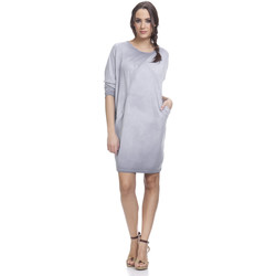 Clothing Women Short Dresses Tantra Long sleeves dress LUNA Grey Woman Spring/Summer Collection Grey