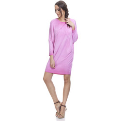 Clothing Women Short Dresses Tantra Long sleeves dress LUNA Pink Woman Spring/Summer Collection Pink