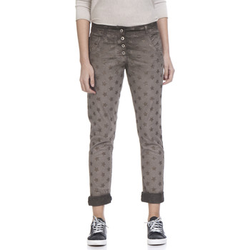 Clothing Women 5-pocket trousers Tantra Printed cotton trousers SUZANNE Taupe Woman Spring/Summer Colle Taupe