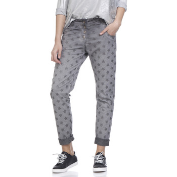Clothing Women 5-pocket trousers Tantra Printed cotton trousers SUZANNE Grey Woman Spring/Summer Collec Grey