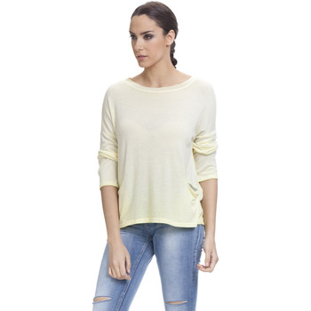 Clothing Women Tops / Blouses Tantra Plain top Long sleeves SALOME Pale-yellow Woman Autumn/Winter C Pale-yellow