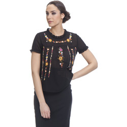 Clothing Women Tops / Blouses Tantra Top GABY Black F Black