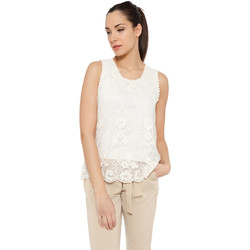 Clothing Women Tops / Blouses Tantra Lace top JULIANNA Off white Woman Autumn/Winter Collection Off white
