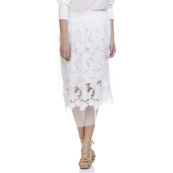 Clothing Women Skirts Tantra Lace skirt LAUREN White Woman Autumn/Winter Collection White