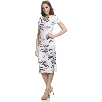 Clothing Women Long Dresses Tantra Printed dress CASSY White Woman Autumn/Winter Collection White