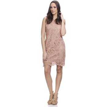 Clothing Women Short Dresses Tantra Dress AMAL Old pink Woman Autumn/Winter Collection Old pink