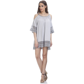 Clothing Women Short Dresses Tantra Lace dress JENNY Grey Woman Autumn/Winter Collection Grey