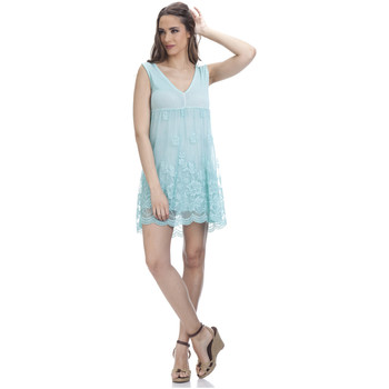 Clothing Women Dresses Tantra Lace dress LAURA Green Woman Autumn/Winter Collection Green