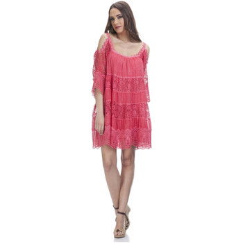 Clothing Women Short Dresses Tantra Lace dress SONIA Red Woman Spring/Summer Collection Red
