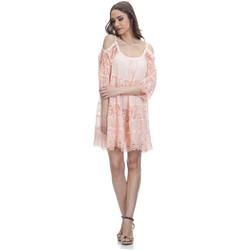 Clothing Women Short Dresses Tantra Lace dress SONIA Salmon-pink Woman Autumn/Winter Collection Salmon-pink