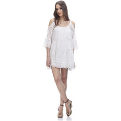 Clothing Women Short Dresses Tantra Lace dress SONIA White Woman Spring/Summer Collection White
